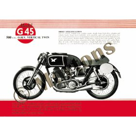 Matchless G45 Motorcycle - A3 Poster / Print