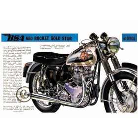 BSA 650 Rocket Gold Star A10RGS - A3 Poster / Print
