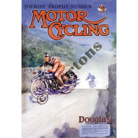 Motor Cycling Magazine Cover TT 23 June 1926 - A3 Poster / Print