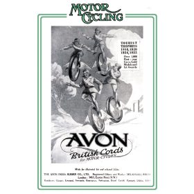 Motor Cycling Magazine Avon Tyres Advert - A3 Poster / Print