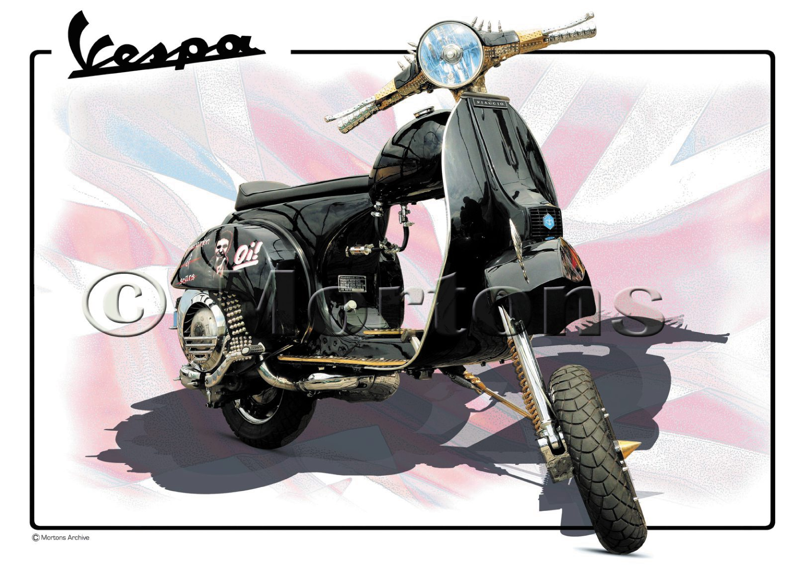 Vespa Chop Scooter H - A3 Poster / Print