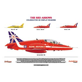 'The Red Arrows: Celebrating 50 Display Seasons' A3 Print Poster