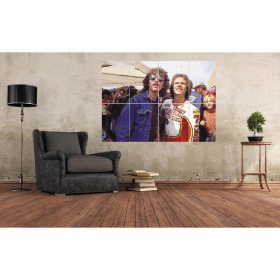George Harrison and Barry Sheene Large Wall Art A0 (A3x8) Poster Print