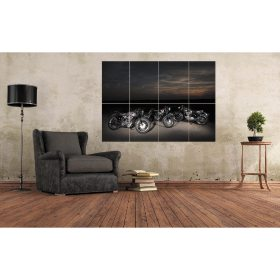 BSA Gold Stars Line Up Large Motorcycle Wall Art A0 (A3x8) Poster Print