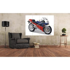 Honda RC30 VFR750R Studio Shoot A0 Large Motorcycle Wall Art (A3x8) Poster Print