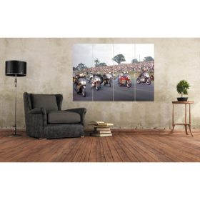 Star-studded 1968 Post TT Mallory Park Starting Line Up (Hailwood, Read, Gould, Agostini, Cooper, Nicholls) Large Motorcycle Wall Art A0 (A3x8) Poster Print