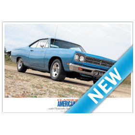 1968 Plymouth Hemi Road Runner - High Quality A4 Print Classic American