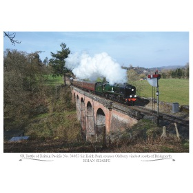 Poster Severn Valley ''Battle of Britain'' 34053 A3 Poster