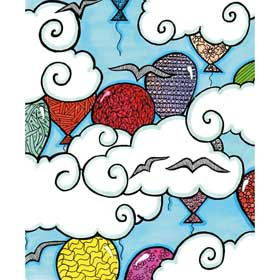 Calming Art - Catherine Gray - Print - Balloons A3 Print