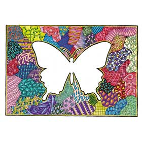 Calming Art - Catherine Gray - Print - Butterfly - A3 Print