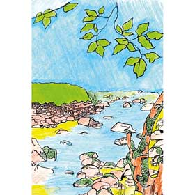 Calming Art - Catherine Gray - Print - By the River - A3 Print