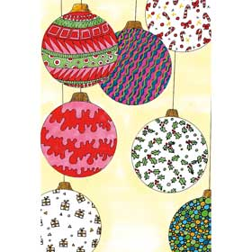 Calming Art - Catherine Gray - Print - Christmas Baubles - A3 Print