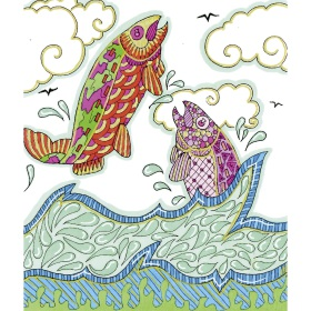 Calming Art - Catherine Gray - Print - Fish - A3 Print