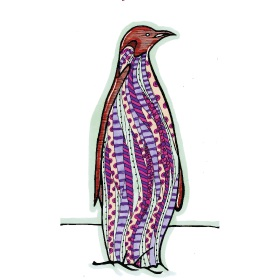 Calming Art - Catherine Gray - Print - Penguin - A3 Print
