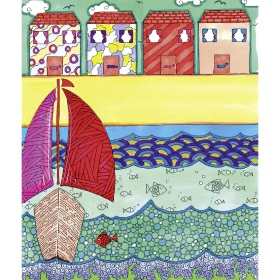 Calming Art - Catherine Gray - Print - Seaside - A3 Print