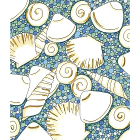 Calming Art - Catherine Gray - Print - Shells - A3 Print
