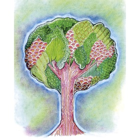 Calming Art - Catherine Gray - Print - Tree - A3 Print