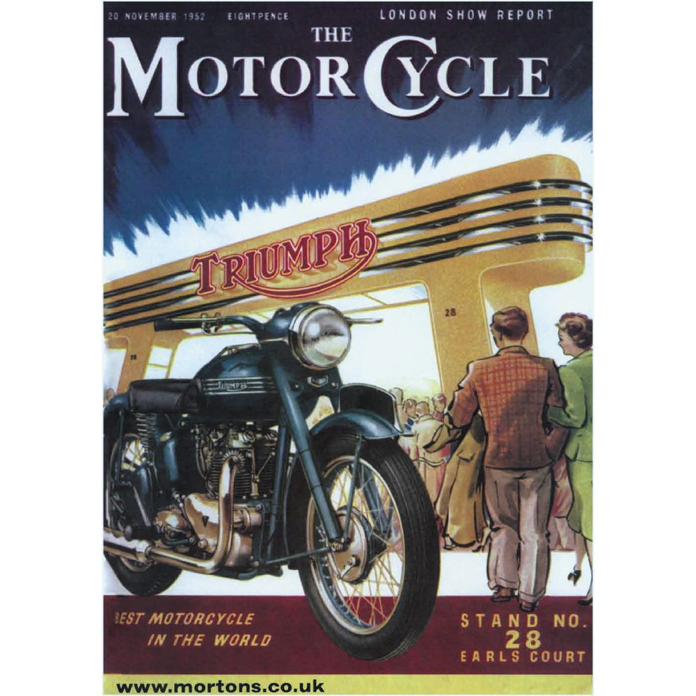 The MotorCycle: Triumph @ Earls Court - A3 Poster / Print