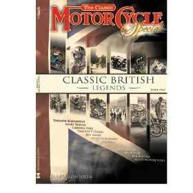 Classic British Motorcycle Legends by James Robinson (Bookazine)
