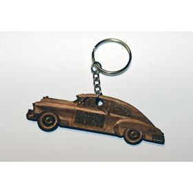 Classic American Keyring - Wooden - Car