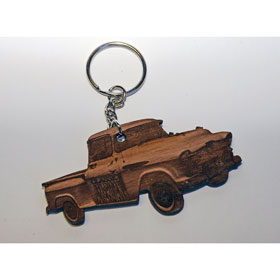 Classic American Keyring - Wooden - Truck