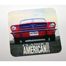 Classic American Coaster - Plastic - Mustang