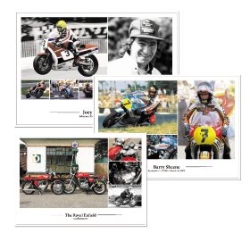 Joey Dunlop, Barry Sheene & Royal Enfield - Set of A3 Posters / Prints