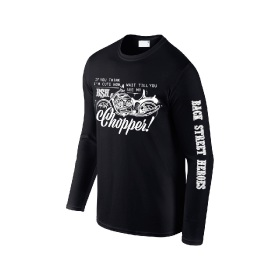 Back Street Heroes Long Sleeve T-Shirt - Chopper - Black