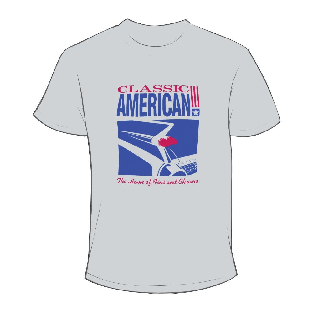 Classic American T-Shirt - Grey - Fins & Chrome