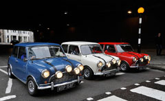 The Italian Job Minis at The Footman James Bristol Classic Car Show