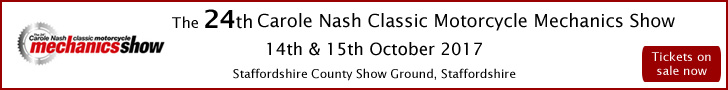 The 24th Carole Nash Classic Motorcycle Mechanics Show - Stafford October - Tickets available here!