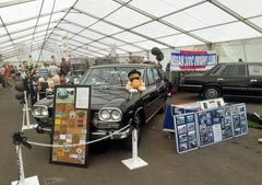 Competition and special classic car display at The Great Western Autojumble