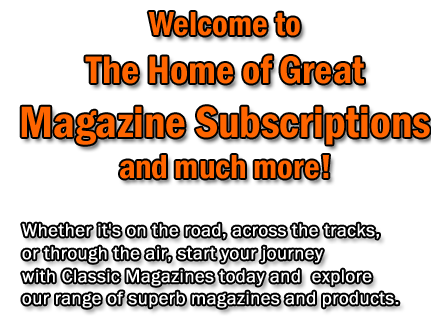 Halloween welcome title from Classic Magazines