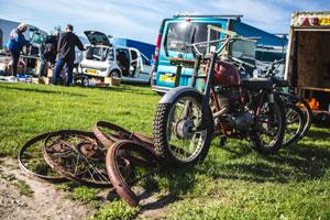 Netley Marsh Eurojumble - the UK's biggest bike autojumble - scrambler for sale